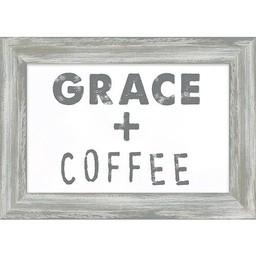 Grace + Coffee Framed Art 7.5x10.5