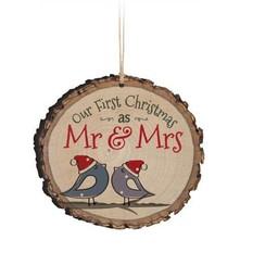 Barky Ornament-1st Christmas Mr/Mrs