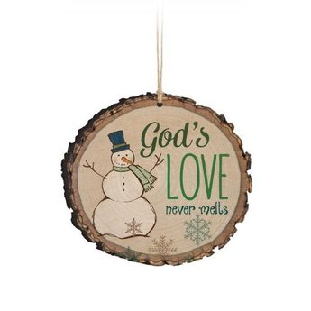 Barky Ornament-God's Love Never Melts