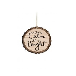 Barky Ornament-All is Calm All is Bright