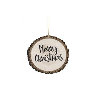 Barky Ornament-Merry Christmas (Text Only)