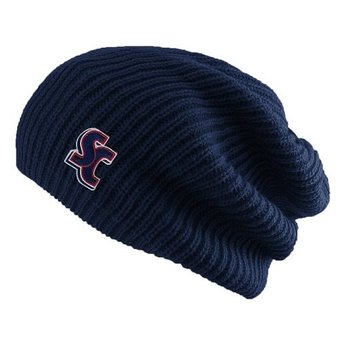 LogoFit Hipster Slouchy Beanie, Navy Blue