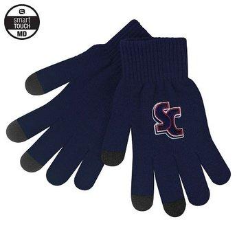 LogoFit iText Knit Glove, Navy Blue, Medium