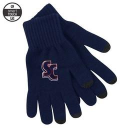 LogoFit uText Knit Gloves, Navy Blue, Large