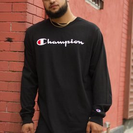 CHAMPION HERTIAGE L/S - BLK