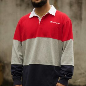 "CHAMPION COLORBLOCK RUGBY ""SCARLET"""