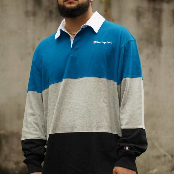"CHAMPION COLORBLOCK RUGBY ""DEEP HOTLINE"""