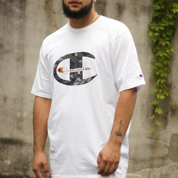 CHAMPION HERTIAGE TEE 'WHITE CAMO""