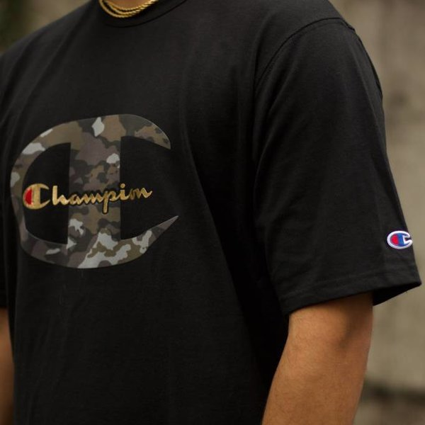 "CHAMPION HERTIAGE TEE ""BLK CAMO"""