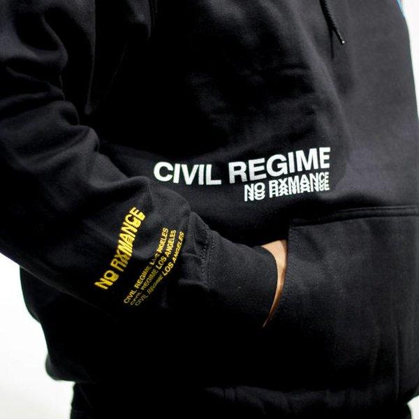 CIVIL REGIME NO RXMANCE HOODIE - BLK