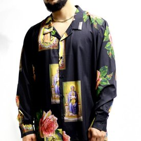 CIVIL REGIME HOLY FLORAL LS - BLK