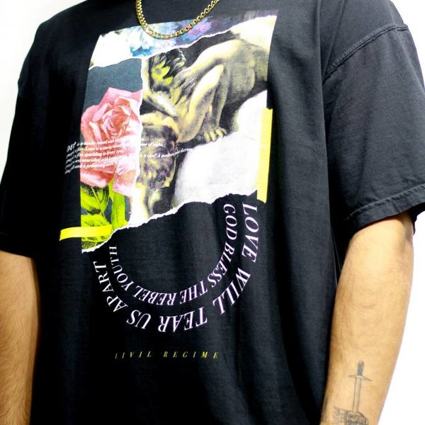 CIVIL REGIME LOVE TEE - BLK
