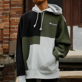 CHAMPION RW CLRBLK HOODIE - OLIVE