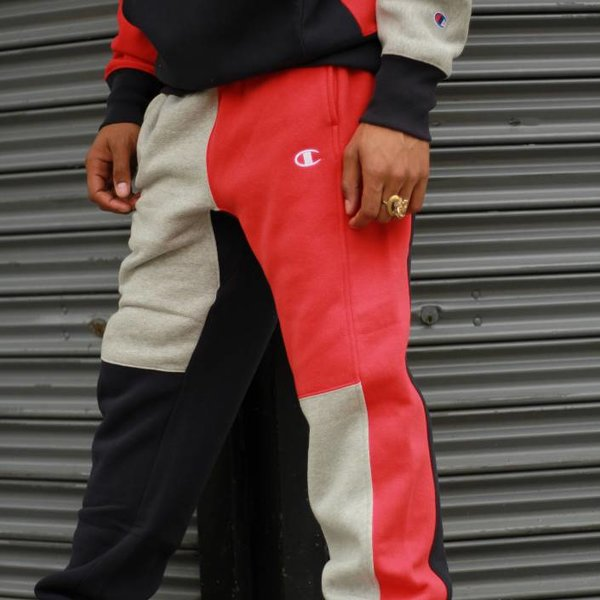 CHAMPION RW  CLRBLK SWEATPANT - NAVY/RED