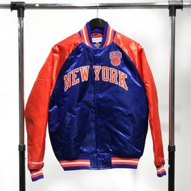 MITCHELL & NESS M&N SATIN JACKET - KNICKS