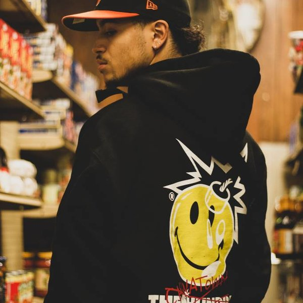 THE HUNDREDS CROSSOUT ADAM PULLOVER - BLK