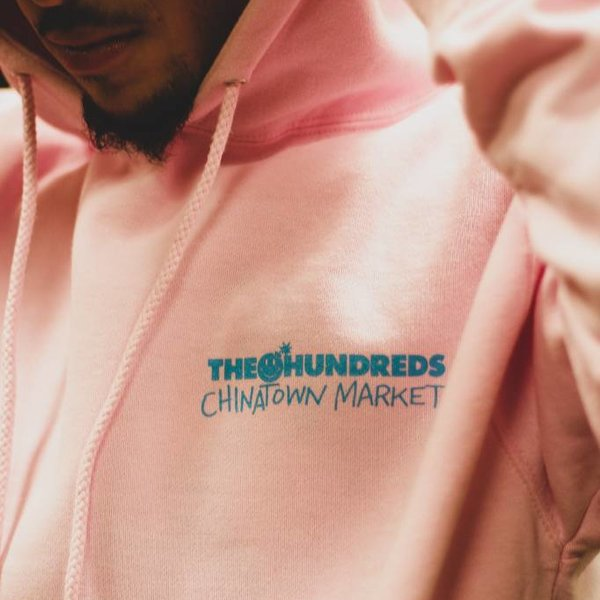 THE HUNDREDS CROSSOUT ADAM PULLOVER - PINK