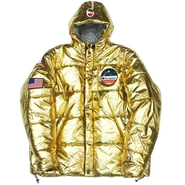 CHAMPION NASA PUFFER ''GOLD JACKET ''