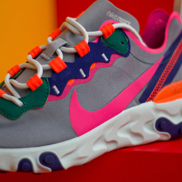 "NIKE W REACT ELEMENT 55 ""WOLF GREY FUCHSIA"""