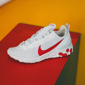 "NIKE REACT ELEMENT 55 ""RED/WHT"""