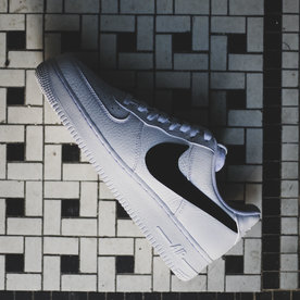 "NIKE NIKE AIR FORCE 1 ""BIG SWOOSH-BLK"""