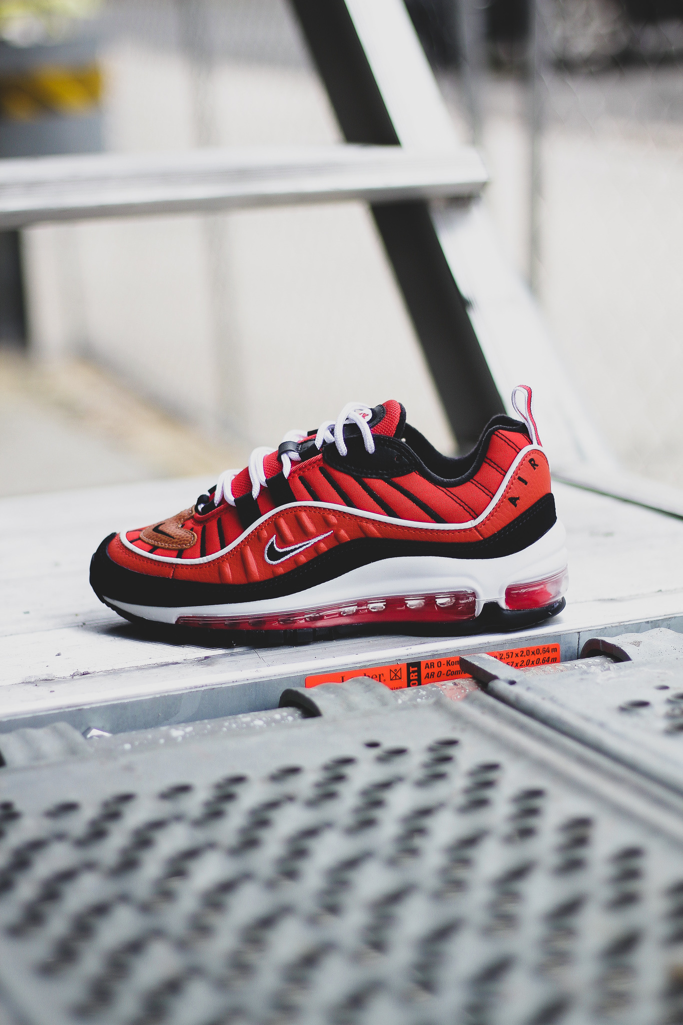 Off White Nike Air Max 98 Black Red White