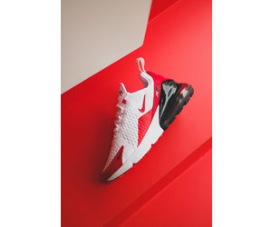 Details about Nike Men's Air Max 270 White Anthracite Cool Grey University Red CJ0550 100