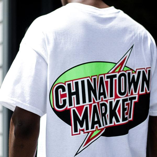 CHINATOWN MARKET LIGHTNING TEE - WHITE