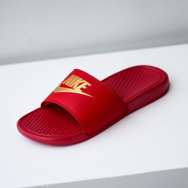 """NIKE BENASSI JDI """"RED/GOLD"""""""