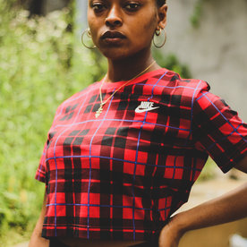 "NIKE WNSW FUTURA CROP TOP ""PLAID"""