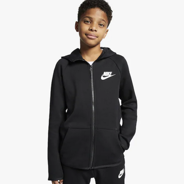 NIKE NSW TECH FLC TOP (BOYS) BLK