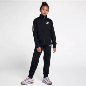 NIKE NSW GIRLS TRACKSUIT - BLK