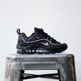 NIKE AIR MAX 98 GS - OIL GREY/SLVR