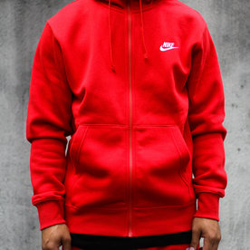 "NIKE CLUB FLC FULL ZIP ""RED"""