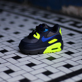 "NIKE AIR MAX 90 LTR BT ""MTL GREY/ROYAL"""