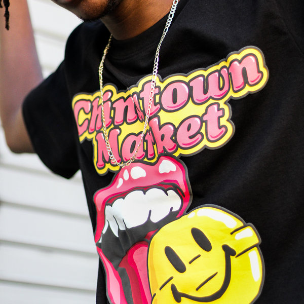 "CHINATOWN MARKET SMILEY LOLLIPOP TEE ""BLK"""