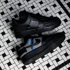"NIKE AF1-TYPE ""BLK/PHOTO BLUE"""