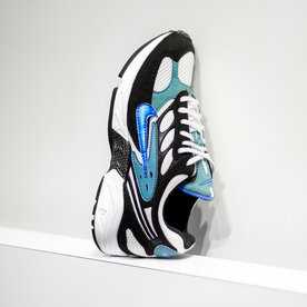 "NIKE AIR GHOST RACER ""BLK/PHOTO BLUE"""