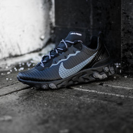 "NIKE REACT ELEMENT 55 PRM ""QUILTED BLK"""