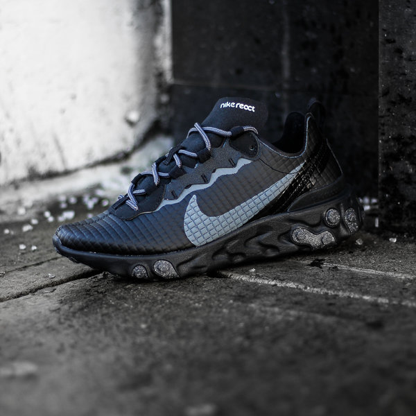 "NIKE NIKE REACT ELEMENT 55 PRM ""QUILTED BLK"""