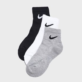 "NIKE ANKLE SOCKS 3PK ""MULTI"" XL 12-15"
