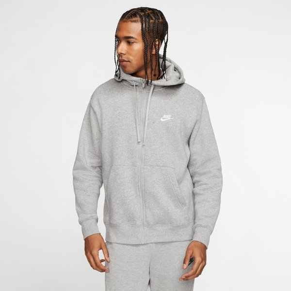 "NIKE CLUB FLEECE ZIP UP ""GREY"""