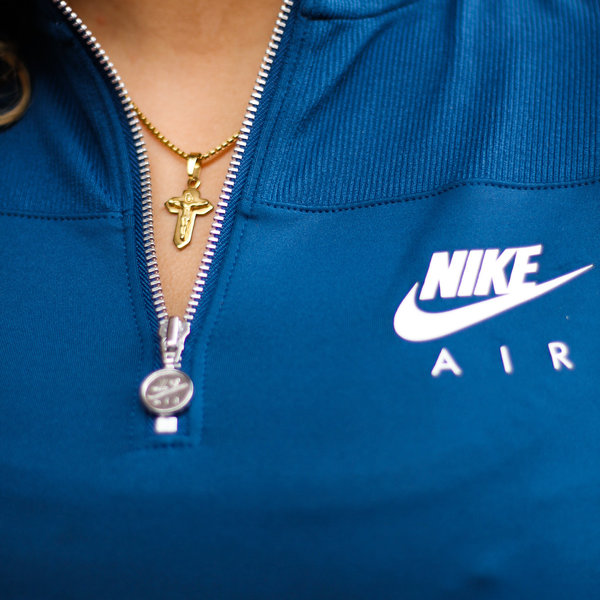 "NIKE W RIBBED L/S TOP ""VALERIAN BLUE"""