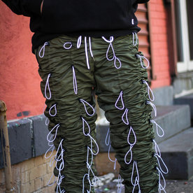 "EPTM ACCORDION PANTS ""OLIVE/WHITE"""
