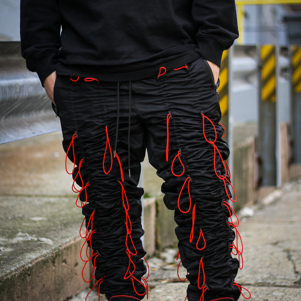 """EPTM ACCORDION PANTS """"BLK/RED"""""""