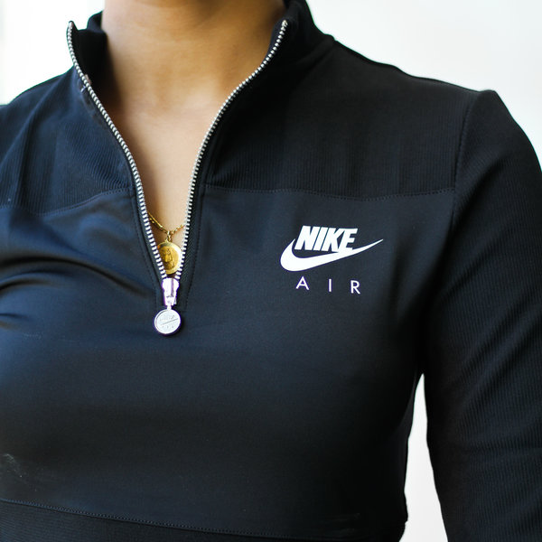 "NIKE W RIBBED L/S TOP ""BLK"""