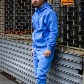 "NIKE CLUB FLC FULL ZIP ""PACIFIC BLUE"""