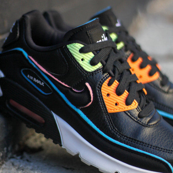 "NIKE AIR MAX 90 SE (GS) ""BLK/BLUE FURY"""