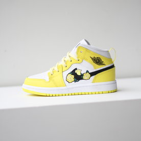 "AIR JORDAN JORDAN 1 MID SE (PS) ""DYNAMIC YELLOW"""