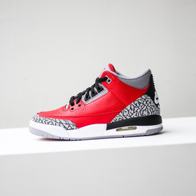 "AIR JORDAN JORDAN 3 RETRO SE (GS) ""FIRE RED"""